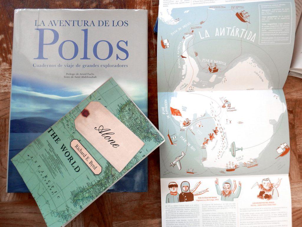 Ilustración Antártida Mapa