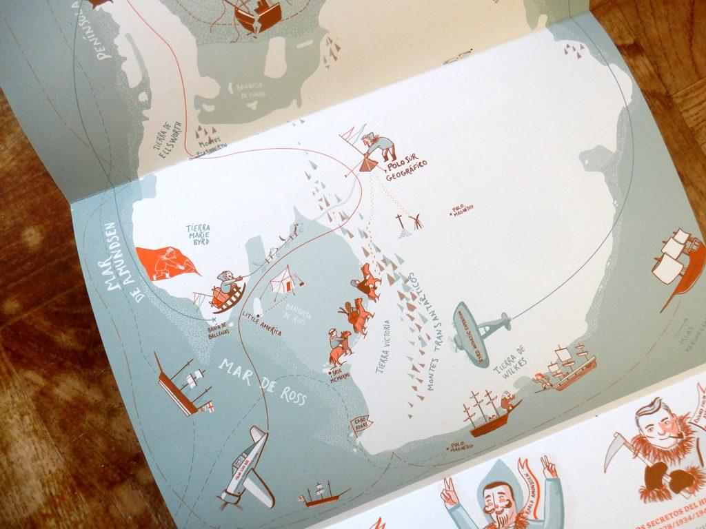 Desplegable ilustrado La Antártida