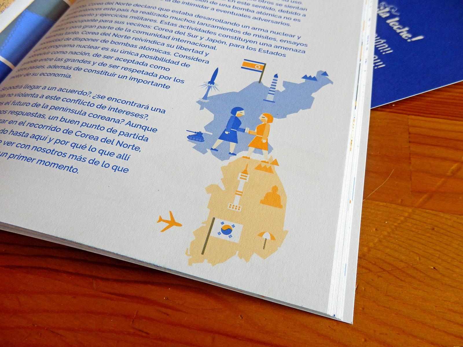 Ilustración editorial para el especial sobre Corea del Norte