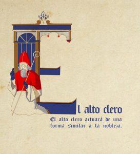 Ilustración Alejandra Fernández medieval